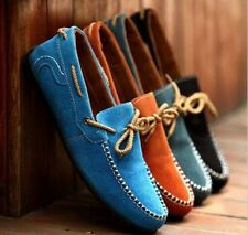 New British Men Suede Casual Lace Slip On Loafer Shoes Driving Moccasins Shoes