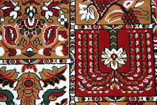 Quality Red Panel Wilton Any Size x 4mt Pattern Action-Backed Carpet