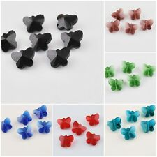 14mm Butterfly Beads Charms Faceted Glass Crytal Spacer Finding 22 Colors Free