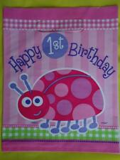 BABY GIRLS 1ST BIRTHDAY LOOT PARTY BAGS -Various quantities Ladybird  FAVOURS