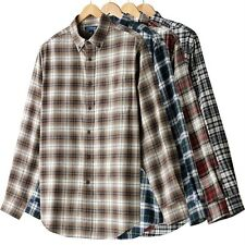 Croft & Barrow Mens Signature Flannel Plaid Shirt-Big and Tall-MSRP $42-NWT