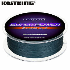 KastKing SuperPower Braided Fishing Line (150yds/330yds/550yds/1100yds) - Gray