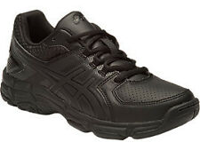 Asics GEL 190 TR GS Black Leather Boys Running Shoes