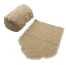 Chair Arm Covers and Chair Backs, Quality UK Made, Deep Beige or Light Cream