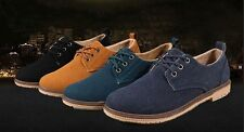 New Suede European style leather Shoes Mens oxfords Casual Multi Size free ship