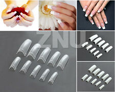 Clear Natural White 500pc French Acrylic Artificial Half False Nail Art Tips New