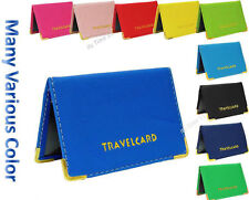 New PU Leather Oyster Card Travel Bus Pass Wallet Rail Card Holder Cover Case