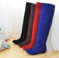 2015 New fashion boots shoes over the knee thigh high suede long boots