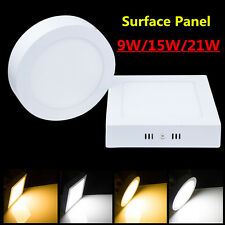 9W 15W 21W Dimmable LED Surface Panel Ceiling Down Light Mount Bulb Home Office