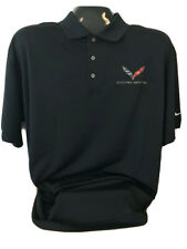 CORVETTE C7 NIKE DRI FI POLO SHIRT WHITE  NEW BUDS CHEVROLET ST MARYS OH