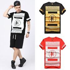 New Last Kings Graphic Tee Mens Casual Cotton Short Sleeve Hip-hop T-shirt M-XL