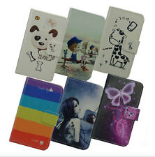 For SONY DELUXE cartoon flower floral case cover wallet card