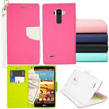 For LG G Stylo LS770 Wallet Cover Case PU Leather Stand +Screen Protector
