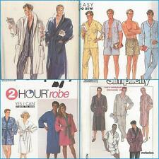 Mens Sleepwear PJs Pajamas Nightshirt Robe Sewing Pattern Fathers Day You Pick