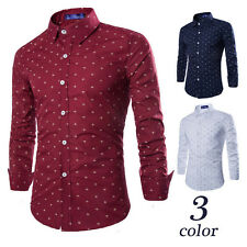 Fashion Mens Fashion Luxury Casual Slim Fit Stylish Long Sleeve Dress Shirts dd
