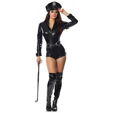 Sexy Cop Costume Adult Police Officer Dominatrix Outfit Halloween Fancy Dress
