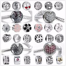 A22 Silver Charms Beads dangle Fit sterling 925 European charm Bracelets Bangles