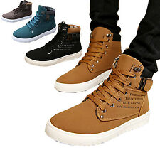 New Men suede Martin boots Lace up Loafers High Top Sneakers Sport Ankle Shoes