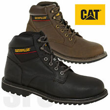 Caterpillar Electric Mens Black Brown Steel Toe Cap Leather Safety Work Boot