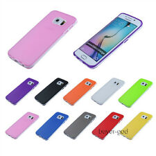 Ultra-Thin Soft Translucent Rubber Bumper Case Cover For Samsung S6 Edge S4 S5