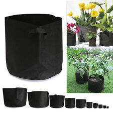 Round Fabric Pots Plant Pouch Smart Root Container Grow Bag Aeration Pot 10 Size