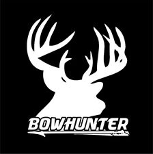 Whitetail Buck Skull Antlers - Arrow Passin Through Deer Hunting decal sticker