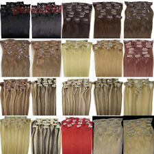 """New 20""""8PCS 100g Clip in Remy 100% Real Human Hair Extensions Straight Any Color"""