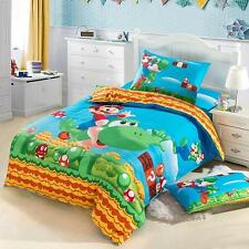 *** Super Mario Queen Bed Quilt Cover Set - Flat or Fitted Sheet ***
