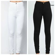 NEW WOMEN SKINNY JEANS HIGH WAISTED JEGGINGS/LEGGINGS/TROUSERS SIZE 6/8/10/12