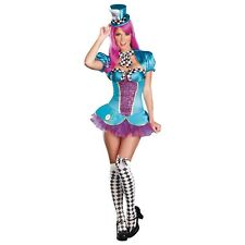 Sexy Mad Hatter Costume Adult Alice in Wonderland Halloween Fancy Dress
