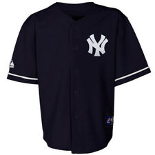 NWT Majestic New York Yankees MLB Youth Navy Replica Jersey
