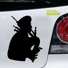 Scottish Bagpiper Bagpipes Scotland Car Decal Sticker