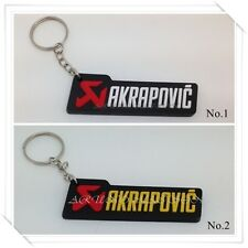 AKRAPOVIC Keychain Keyring Rubber Motorcycles Racing Motor Sport Logo Badge New