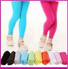 Brand New Girls Kids Coloured Cotton Footless Leggings Size 2-14 Years