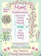 MUM'S BED & BREAKFAST WELCOME VINTAGE RETRO LARGE STEEL WALL PLAQUE TIN SIGN NEW