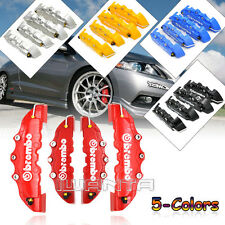 5-Colors Car Front & Rear Wheel Disc Brake Caliper Covers 3D Brembo Style W/ Box