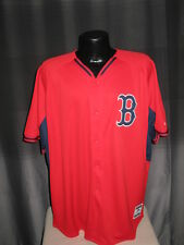 MLB Boston Red Sox Exclusive Alternate Majestic Red Jersey Shirt Mens Sizes Nwt