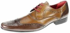 Red Tape Elrick brown tan two tone leather lace up formal brogue mens shoes