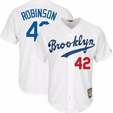 2015 Jackie Robinson Brooklyn Dodgers Home (White) Cool Base Jersey Men's