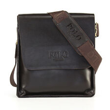 Vertical Leather POLO Men's Fashion Shoulder Messenger Bags Briefcase 2 Size