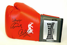 New :  Carl Froch And George Groves Dual Hand Signed Red Lonsdale Boxing Glove