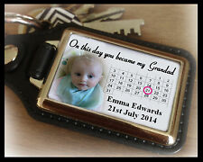 Personalised keyring, on this day you became my Grandad, birthday christmas gift