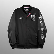LeBron James 2015 NBA All Star Authentic Warm Up (Black) Jacket w/ Patch Men's