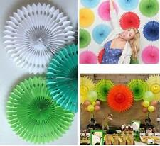 10pc Hanging Tissue Hollow Paper Fan Poms Wedding Party Home Oudoor Decoration