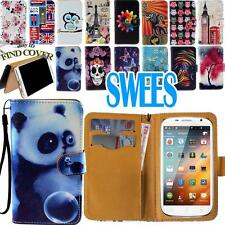 """Leather Folio Stand Card Wallet Cover Case For SWEES Android Smartphone 4.5""""/ 5"""""""