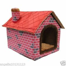 New Indoor Brick Wall Chimeny Pet Dog Cat sofa House Beds Kennel Toy S M L