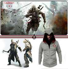 Assassin's Creed:Brotherhood Ezio Jacke Hoodie Pullover Mantel Kapuze Cosplay