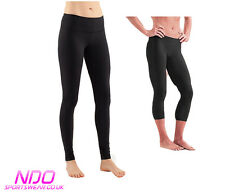 Ladies Black NDO Dri Fit 3.0 Workout Leggings -ref running gym sport nike yoga