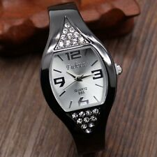 Fashion Ladies Rhinestone Crystal Bangle Bracelet Quartz Wrist Watch Gifts Girls