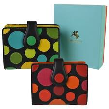 NEW LADIES LEATHER Polka Dot Design Purse Wallet by Visconti Gift Boxed Spots